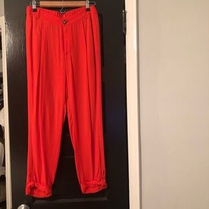 Anthropologie orange Capri pants size 4